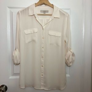 LOFT Button Down Top
